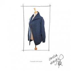 Erika Knight Trykte opskrifter til Maxi Wool discontinued designs 27 Maxijacke Deutsch MaxiWool