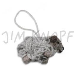 Jim Knopf Anhänger mit Band gefilzt Grau mit Band