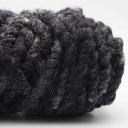 Kremke Soul Wool RUGby Tæppe Uld Anthrazit-Meliert