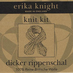 Erika Knight Strickset Dicker Rippenschal