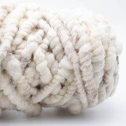 Kremke Soul Wool RUGby Tæppe Uld GOTS Naturweiß Braun ungefärbt
