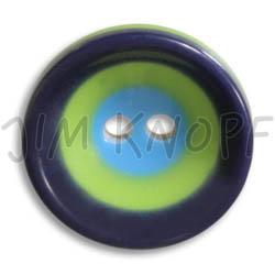 Jim Knopf Colorful plastic button circles 16mm Blau Grün Hellblau