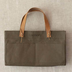 CocoKnits Kraft Caddy including Leather Handles Beigeoliv