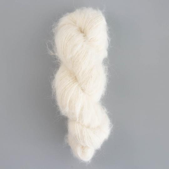 Kremke Soul Wool Baby Silk Fluffy undyed on hanks
