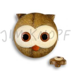 Jim Knopf Wood button tiger 17mm Eule
