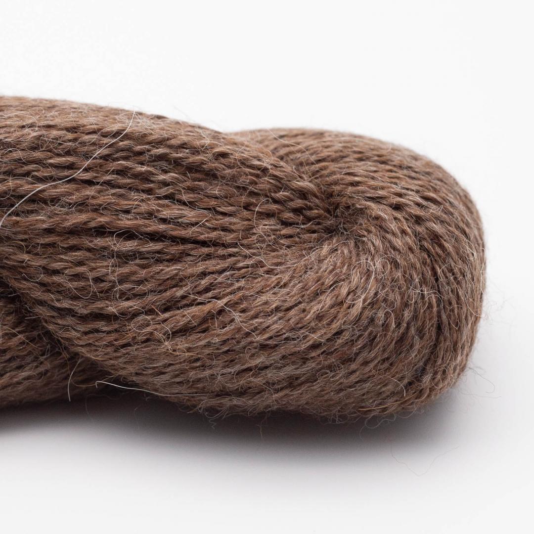 BC Garn Babyalpaca brown heather (undyed)