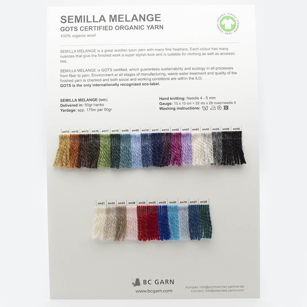 BC Garn Shade Cards BC Garn Semilla Melange