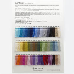 BC Garn Farvekort Soft Silk