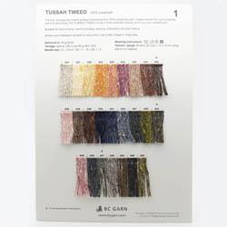 BC Garn Farvekort Tussah Tweed