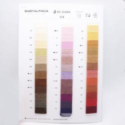 BC Garn Farvekort Babyalpaka 10/2 50g and 25g with new colors
