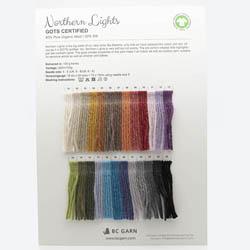BC Garn Farvekort Northern Lights
