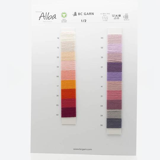 BC Garn Farvekort Alba