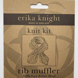 Erika Knight Mønster folder Rib Muffler ENG
