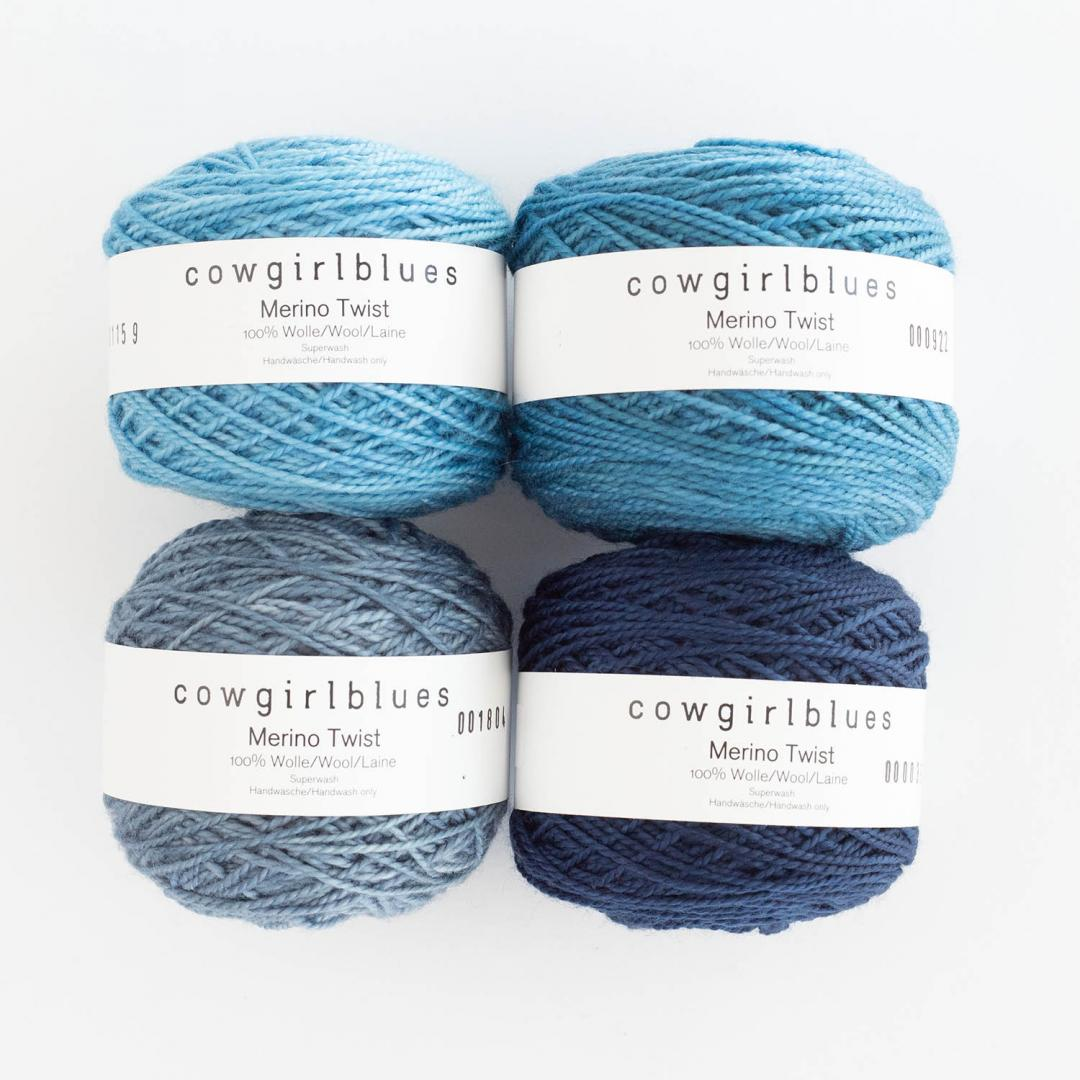 Cowgirl Blues Merino Twist Yarn solids