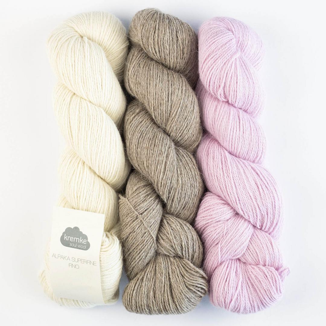 Kremke Soul Wool Alpaca Superfine Fino (100g)  hellgrau_10130