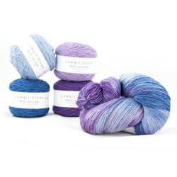 Cowgirl Blues Merino Single Lace Flerfarvet
