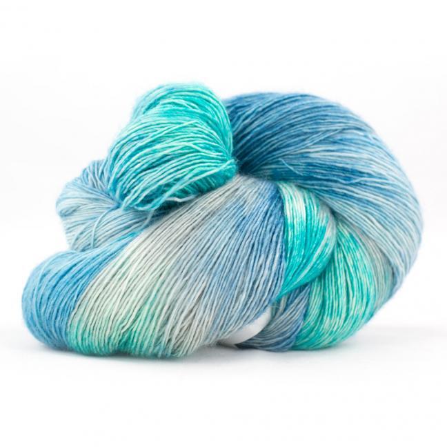 Cowgirl Blues Merino Single Lace Flerfarvet  GuineaSeagrassSilverEmerald